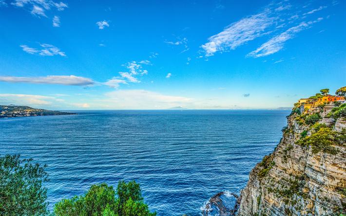 Scarica sfondi italia 4k mare costa hdr estate for Foto per desktop mare