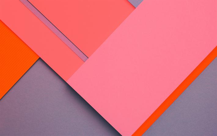 Scarica Sfondi Il Design Dei Materiali Il Rosa E Il Grigio Linee