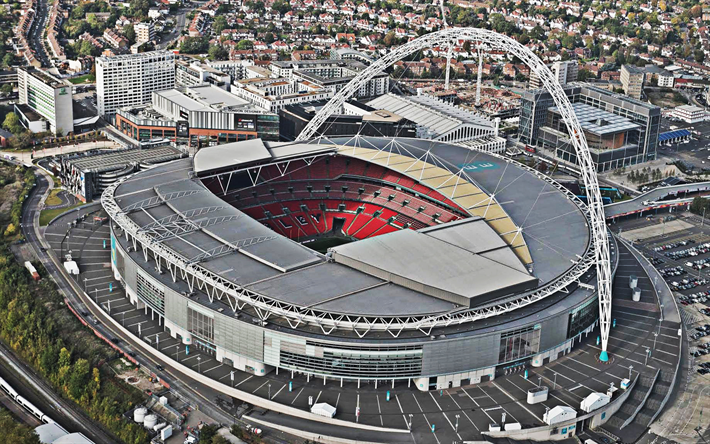 Download Wallpapers Wembley Stadium, 4k, English Football