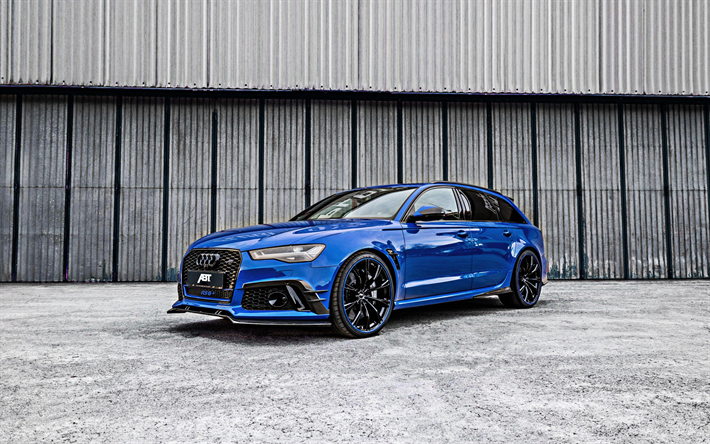 Download Wallpapers Audi Rs6 2018 Rs6 Abt Nogaro Edition