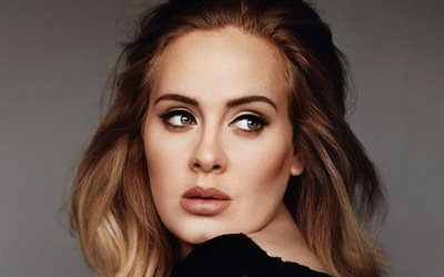 Adele, portrait, british singer, photoshoot, black dress, beautiful female eyes, Popular singers, world star, Adele Laurie Blue Adkins