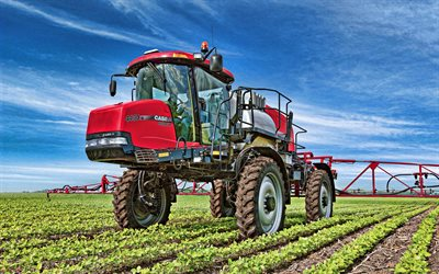 Case IH Patriot 4430, self-propelled sprayers, 2019 tractors, agricultural machinery, HDR, tractor in the field, agriculture, Case