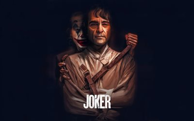 Joker, 2019, poster, art, promotional materials, Joaquin Phoenix