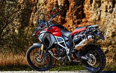 BMW F800GS, 4K, superbike, 2021 biciclette, HDR, 2021 BMW F800GS, motociclette tedesche, BMW
