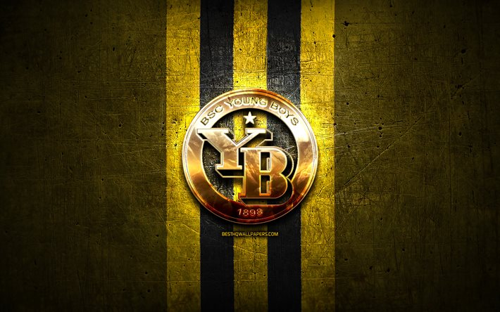 Download Wallpapers Young Boys Fc Golden Logo Swiss Super League Yellow Metal Background Football Bsc Young Boys Swiss Football Club Young Boys Logo Soccer Switzerland For Desktop Free Pictures For Desktop Free
