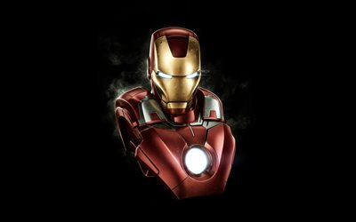 Iron Man, superhero, 3d art, comic characters