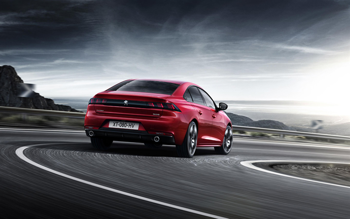 Download Wallpapers Peugeot 508, 2019, 4k, Exterior, Rear