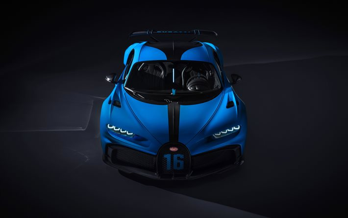 Download Wallpapers 4k Bugatti Chiron Supercars Front View Hypercars 2020 Cars Blue Chiron Bugatti For Desktop Free Pictures For Desktop Free