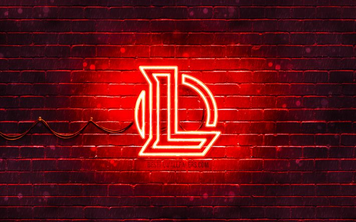 Download Wallpapers League Of Legends Red Logo Lol 4k Red Brickwall League Of Legends Logo 2020 Games League Of Legends Neon Logo League Of Legends Lol Logo For Desktop Free Pictures For