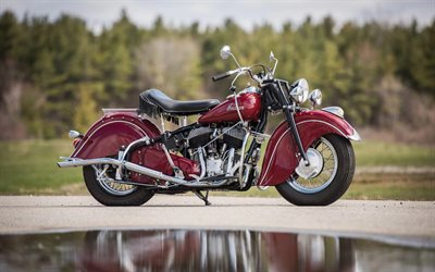 Indian Chief Vintage, 2020, retro style motorcycles, red Chief Vintage, american motorcycles, Indian