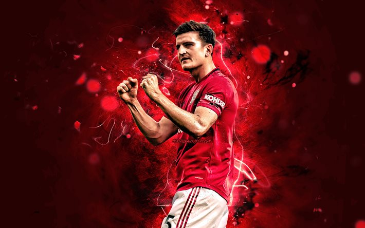 Download Wallpapers Harry Maguire 2020 Manchester United Fc English Footballers Premier League Jacob Harry Maguire Neon Lights Soccer Football Man United For Desktop Free Pictures For Desktop Free