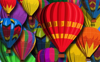 colorful aerostat, abstract art, abstract balloons, creative, abstract aerostat, colorful air balloons