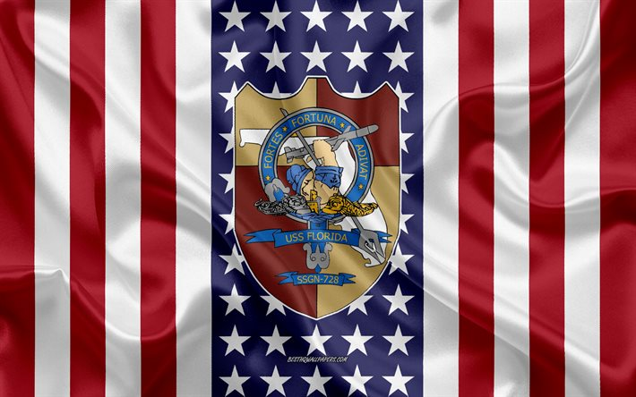 USS Michigan Emblem, SSGN-727, American Flag, US Navy, USA, USS Michigan Badge, US warship, Emblem of the USS Michigan