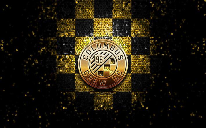 Download Wallpapers Columbus Crew Fc Glitter Logo Mls Yellow