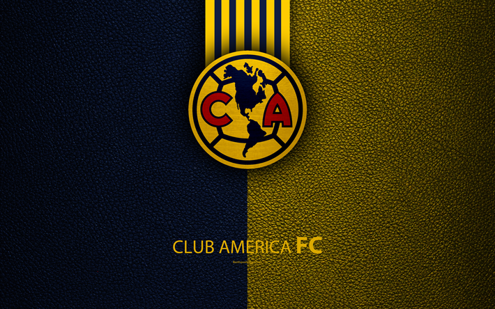 Download Wallpapers Club America 4k Skin Texture Logo Mexican