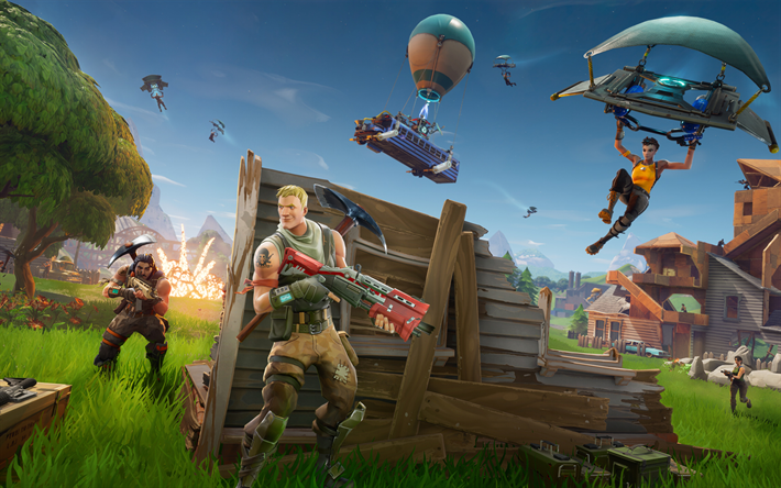 fortnite gameplay, 2018 spiele, sieg royale, ps4