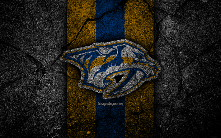 Download Wallpapers 4k Nashville Predators Logo Hockey