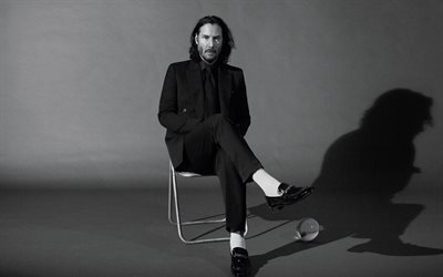 keanu reeves, kanadischer schauspieler, hollywood-star, fotoshooting, monochrom