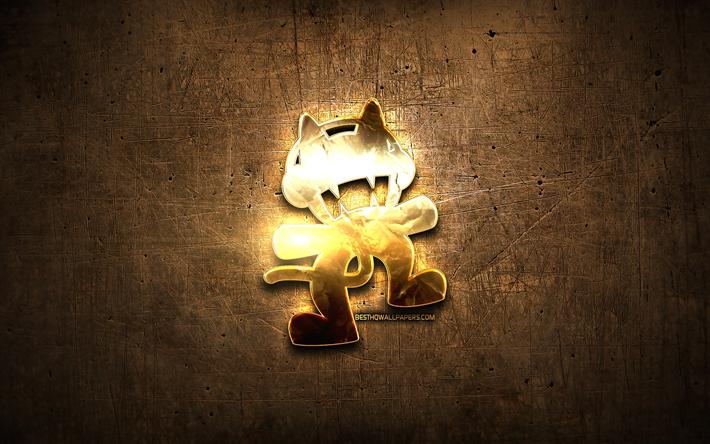 Download wallpapers Monstercat golden logo, Canadian music