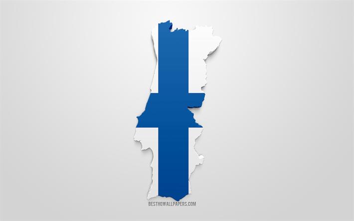 Lataa Kuva 3d Lippu Suomi Siluetti Suomi Kartta 3d Art Suomen