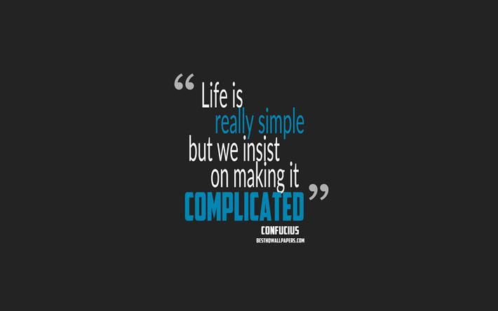 Herunterladen Hintergrundbild Das Leben Ist Wirklich Einfach