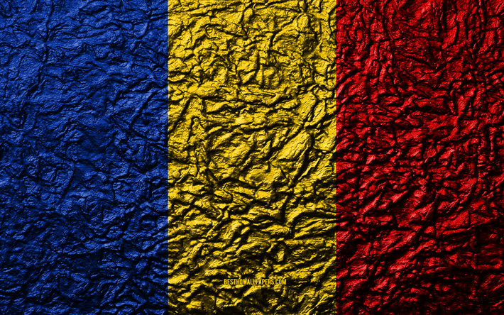 Download Wallpapers Flag Of Romania 4k Stone Texture