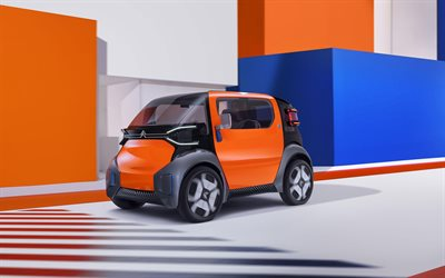 Citroen Ami One Concept, compact cars, 2019 cars, electric cars, 2019 Citroen Ami One, french cars, Citroen