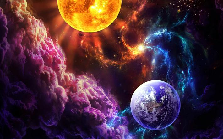 Galaxy Earth Wallpaper