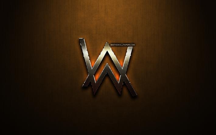 Download Wallpapers Alan Walker Glitter Logo Creative
