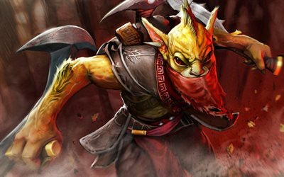 4k, Bounty Hunter, Dota 2, monster, guerreros, Dota2, Bounty Hunter Dota