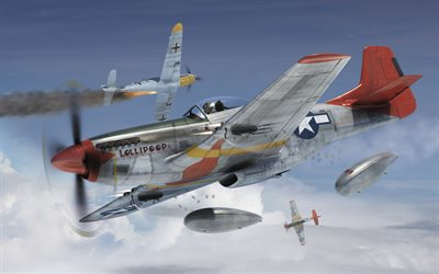 North American P-51 Mustang, P-51D, American Fighter, WWII, USAF, World War II, Tuskegee Airmen, 355th Wing