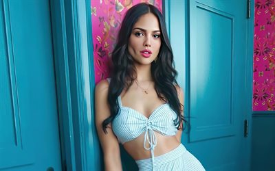 Eiza Gonzalez, Mexican actress, photoshoot, blue suit, popular actress, Hollywood star