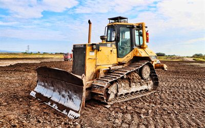 Caterpillar D6M XL, HDR, construction machinery, 2021 bulldozers, special equipment, construction equipment, bulldozer, CAT D6M XL, Caterpillar, CAT