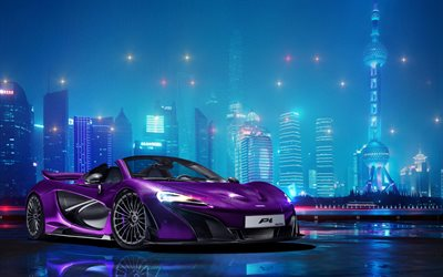 McLaren P1 Spyder, night, 2017 cars, supercars, McLaren
