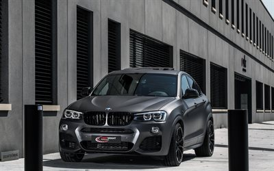 BMW X4, F26, Lightweight Perfomance, Tuning X4, black matte color, BMW