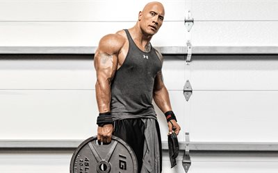 Dwayne Johnson, workout, Training, musculature, American actor