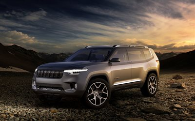 Jeep Yuntu, 2018 cars, SUVs, desert, night, Jeep