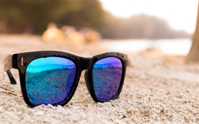 beach, sunglasses, summer travel concepts, sand, evening, sunset, tropical island
