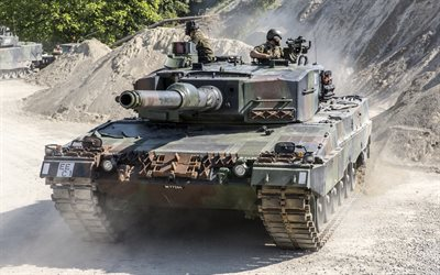 Leopard 2, German battle tank, Army of Germany, modern armored vehicles, Germany
