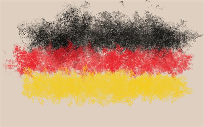 Indir Duvar Kağıdı Almanya Boyama Tarzı Grunge Alman Bayrağı