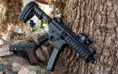 SIG MPX, P226, Sub-machine gun, special forces weapons, modern combat weapons, Sig Sauer