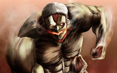 Download Wallpapers Armored Titan Artwork Attack On Titan Characters Battle Nine Titans Manga Yoroi No Kyojin Shingeki No Kyojin Attack On Titan For Desktop Free Pictures For Desktop Free