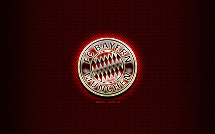 Herunterladen Hintergrundbild Bayern Munchen Fc Glas Logo