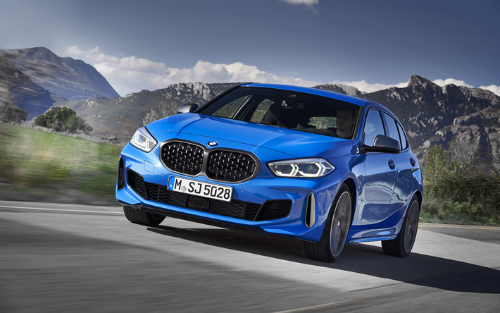 Download Wallpapers Bmw 1 Series 2020 Bmw M135i Exterior