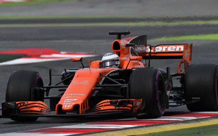 Download Wallpapers Fernando Alonso 4k Mclaren Formula 1 2017 Cars Formula 1 F1 For Desktop Free Pictures For Desktop Free