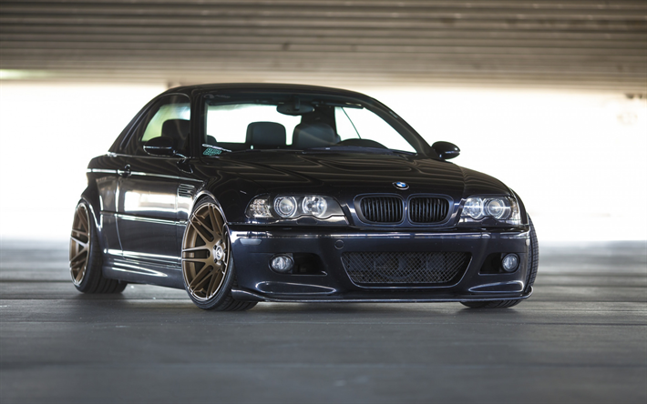 Download Wallpapers Bmw 3 E46 Black Sports Coupe Tuning E46
