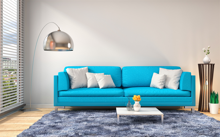Awesome Download Wallpapers Living Room Stylish Design Blue Sofa Evergreenethics Interior Chair Design Evergreenethicsorg