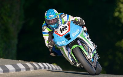 Isle of Man TT, Dean Harrison, Kawasaki ZX-10R, street racing, Silicone Engineering Racing Kawasaki, TT 2018, Kawasaki