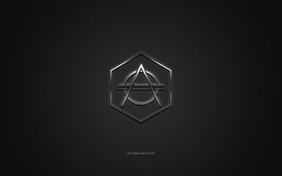 Don Diablo logo, silver shiny logo, Don Diablo metal emblem, Dutch DJ, Don Pepijn Schipper, gray carbon fiber texture, Don Diablo, brands, creative art