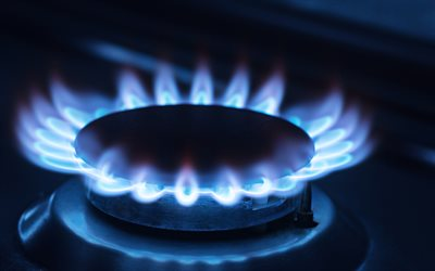 blue gas flame, blue fire, gas concepts, gas burner, blue flame